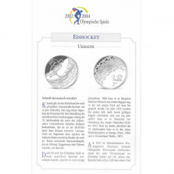 Silver Coin 10 Hryven Ukraine Olympics Hockey Year 2001 Proof | Silver Coins - Alotcoins