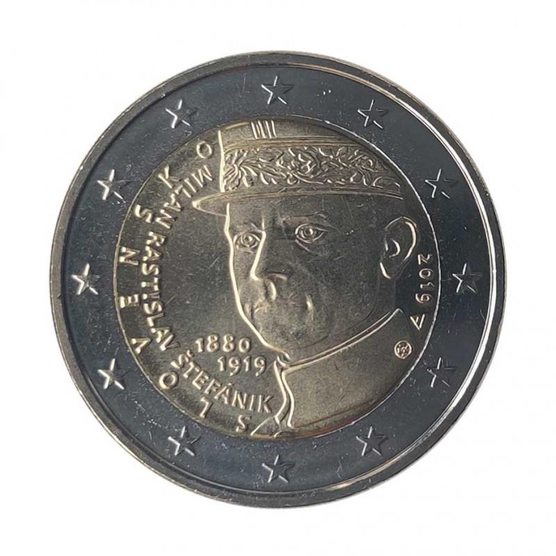 Moneda 2 Euros Eslovaquia Milan Rastislav Štefánik Año 2019   Coleccionistas - Alotcoins