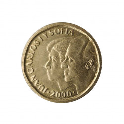 Gedenkmünze 500 Peseten Spanien Könige Jahr 2000 UNZ | Gedenkmünzen - Alotcoins