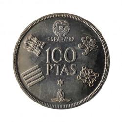 Gedenkmünze 100 Peseten Spain Weltmeisterschaft 1982 Jahr 1980 stern 80 Unzirkuliert UNZ | Gedenkmünzen - Alotcoins