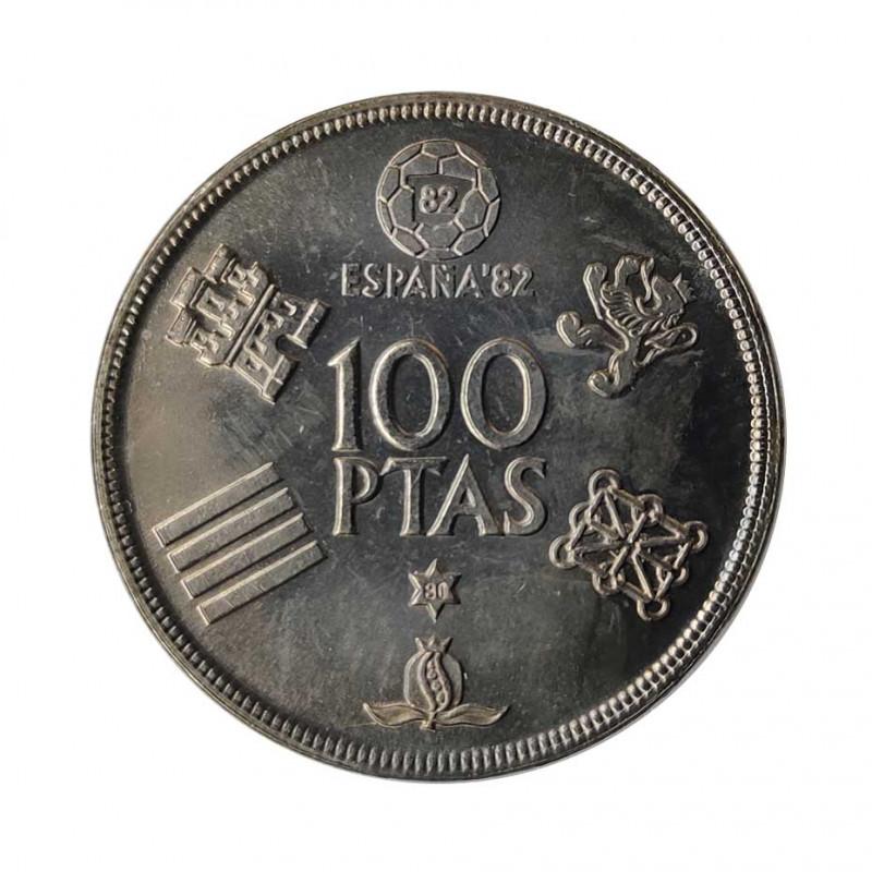 Gedenkmünze 100 Peseten Spain Weltmeisterschaft 1982 Jahr 1980 stern 80 Unzirkuliert UNZ   Gedenkmünzen - Alotcoins