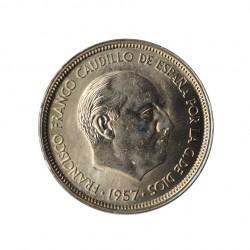Coin 50 Pesetas Spain General Franco Year 1957 Star 59 Uncirculated UNC | Numismatic shop - Alotcoins