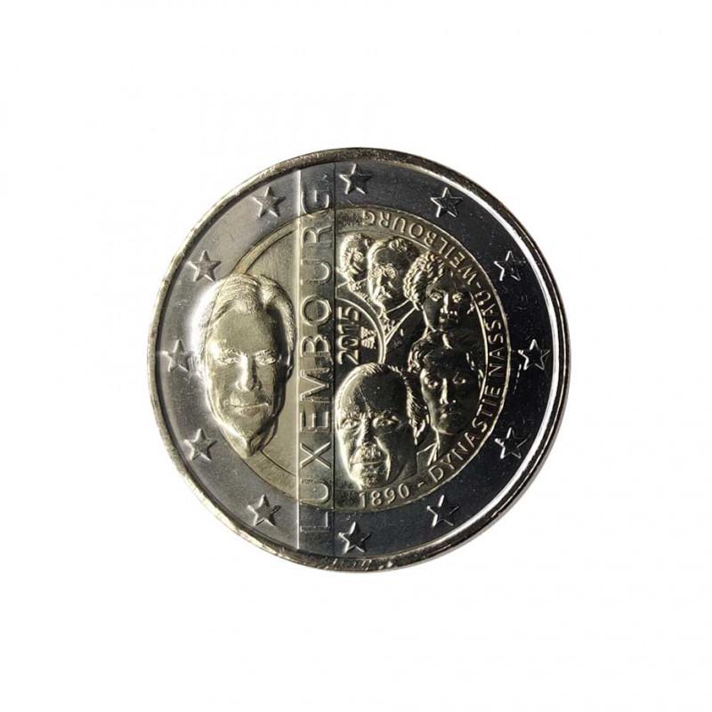 Moneda 2 Euros Conmemorativa Luxemburgo Casa de Nassau-Weilburg Año 2015 Sin circular SC | Monedas de colección - Alotcoins