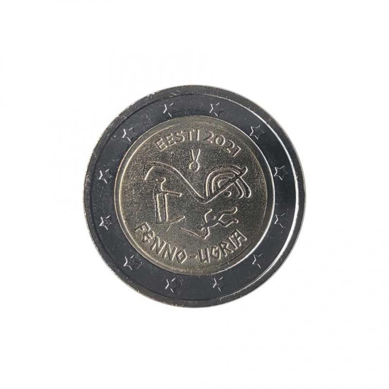 Moneda 2 Euros Conmemorativa Estonia Finno-Ugric Año 2021 Sin circular SC   Tienda Numismática España - Alotcoins