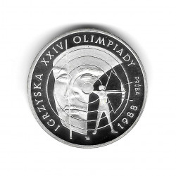Coin Poland Year 1987 1,000 Zloty Silver Olympic Games Archery Proof PP