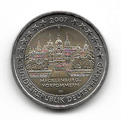 "Coin 2 Euros Germany Mecklenburg ""D"" Year 2007"