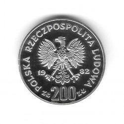 Moneda 200 Zlotys Polonia PROBA Portero Izquierda Año 1982 Plata Proof PP | Tienda Numismática - Alotcoins