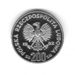 Münze 200 Złote Polen PROBA Fußballtorhüter Links Jahr 1982 Silber Proof PP | Numismatik Shop - Alotcoins