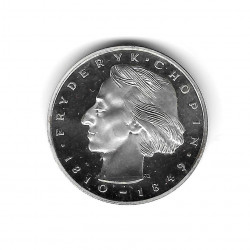 Coin Poland Year 1972 50 Zlotys Fryderyk Chopin Silver Proof PP