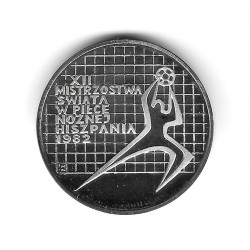 Silver Coin 200 Zloty Poland Soccer Goalkeeper Right Year 1982 Proof | Numismatics Shop - Alotcoins
