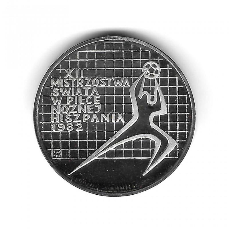 Moneda Plata 200 Zlotys Polonia Portero Derecha Mundial España Año 1982 Proof | Monedas de colección - Alotcoins