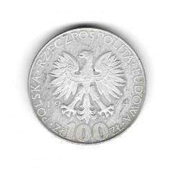 Moneda de Polonia Año 1974 100 Zlotys Marie Curie Plata Proof PP