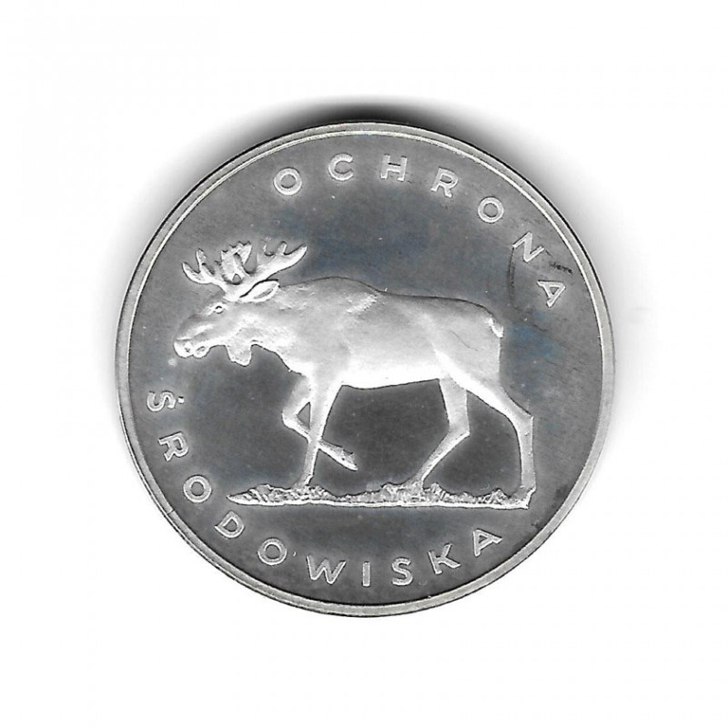 Coin Poland Year 1978 100 Zloty Moose Silver Proof PP
