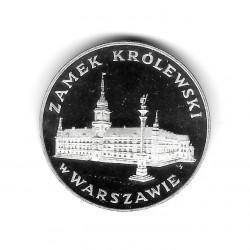 Moneda de Polonia Año 1975 100 Zlotys Castillo Real de Varsovia Plata Proof PP