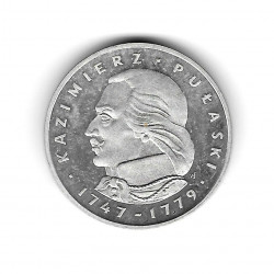 Coin Poland Year 1976 100 Zloty Kazimierz Pulaski Silver Proof PP