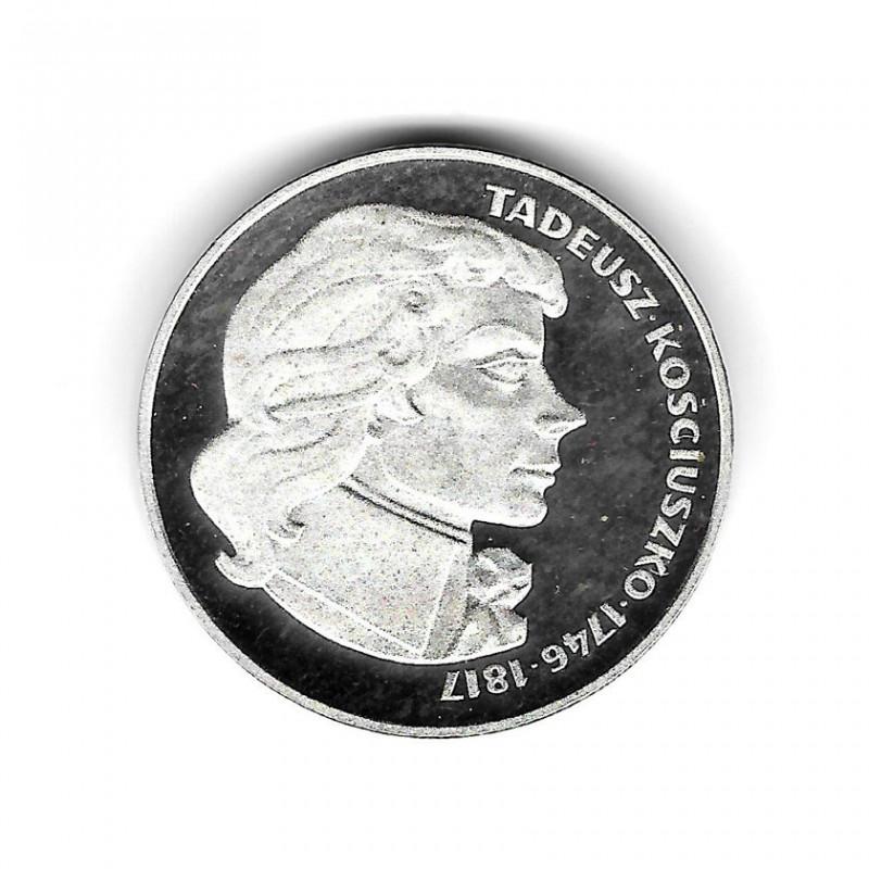Moneda de Polonia Año 1976 100 Zlotys Tadeusz Kościuszko Plata Proof PP