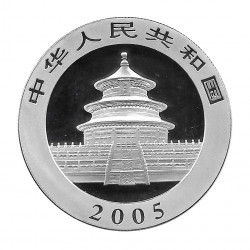 Moneda China 10 Yuan Año 2005 Plata Panda Proof