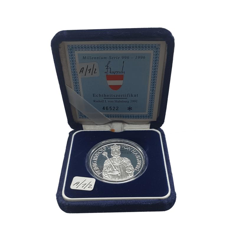 Münze 100 Schilling Austria Rudolf I Jahr 1991 - ALOTCOINS