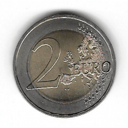 """Coin 2 Euros Germany Mecklenburg """"D"""" Year 2007"""