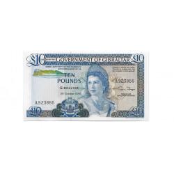 Billete de Gibraltar Año 1986 10 Libras Sin Circular UNC