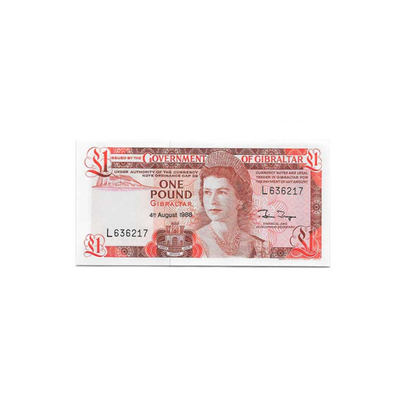 Banknote Gibraltar Year 1988 1 Pound Uncirculated UNC
