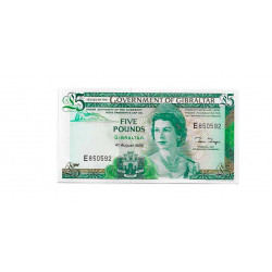 Billete de Gibraltar Año 1988 5 Libras Sin Circular UNC