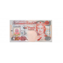 Billete de Gibraltar Año 1995 10 Libras Sin Circular UNC