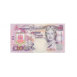 Banknote Gibraltar Year 1995 20 Pound Uncirculated UNC