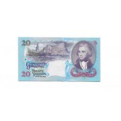 Billete de Gibraltar Año 1995 20 Libras Sin Circular UNC