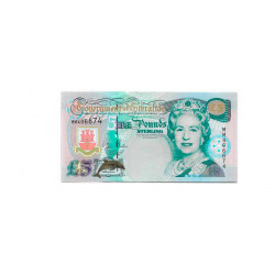 Banknote Gibraltar Year 2000 5 Pound Uncirculated UNC