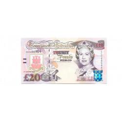 Billete de Gibraltar Año 2004 20 Libras Sin Circular UNC
