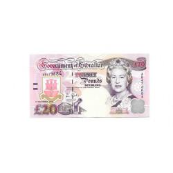Banknote Gibraltar Jahr 2006 20 Pfund Unzirkuliert UNC