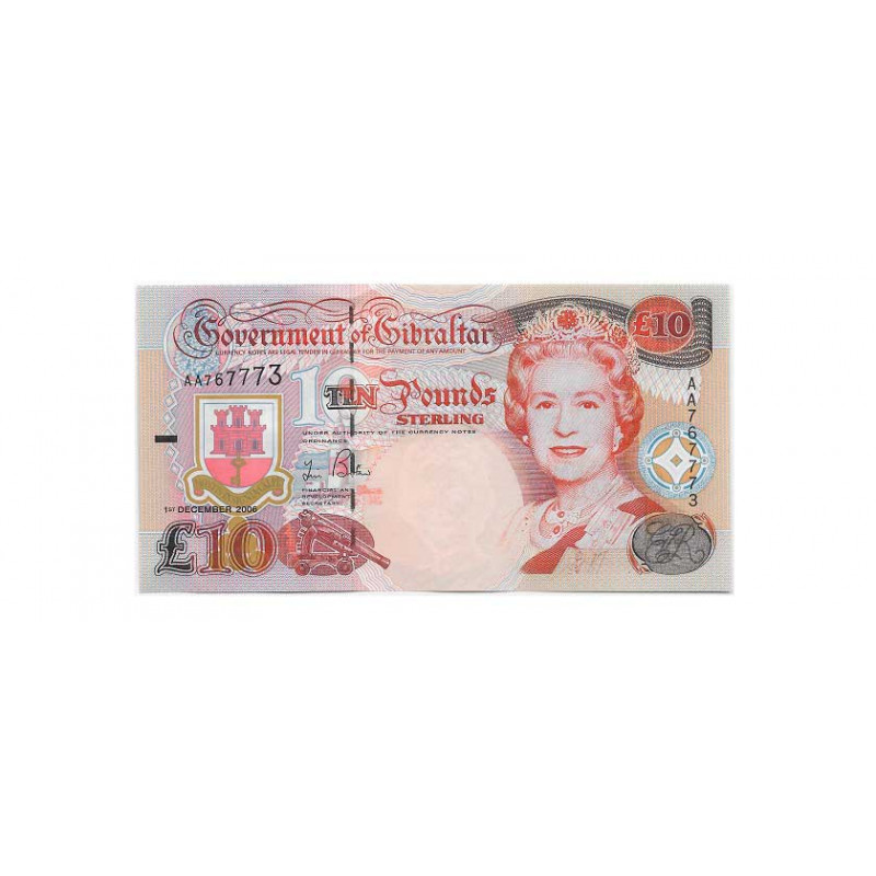 Billete de Gibraltar Año 2006 10 Libras Sin Circular UNC