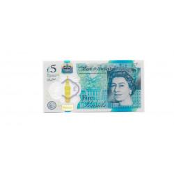 Billete de Inglaterra 5 Libras Sin Circular UNC