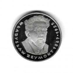 Moneda de Polonia Año 1977 100 Zlotys Reymont Plata Proof PP