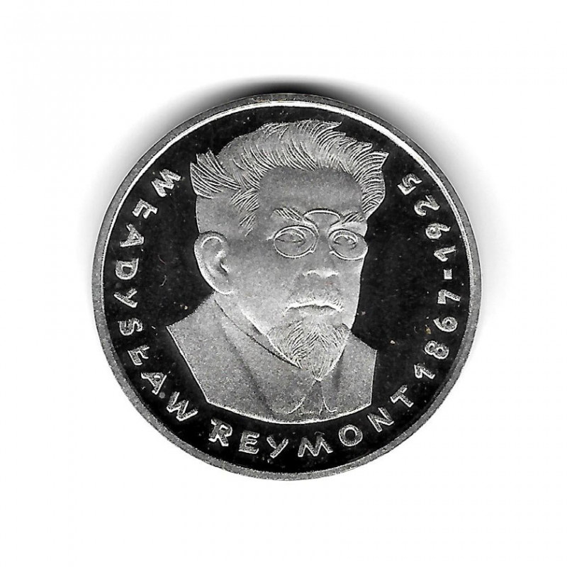 Coin Poland Year 1977 100 Zloty Reymont Silver Proof PP