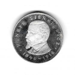 Moneda de Polonia Año 1977 100 Zlotys Sienkiewicz Plata Proof PP
