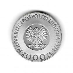 Moneda de Polonia Año 1973 100 Zlotys Copérnico Plata Proof PP
