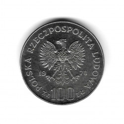 Moneda de Polonia Año 1978 100 Zlotys Mickiewicz Plata Proof PP