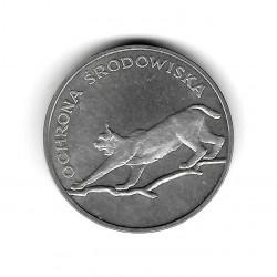 Moneda de Polonia Año 1979 100 Zlotys Luchs Plata Proof PP
