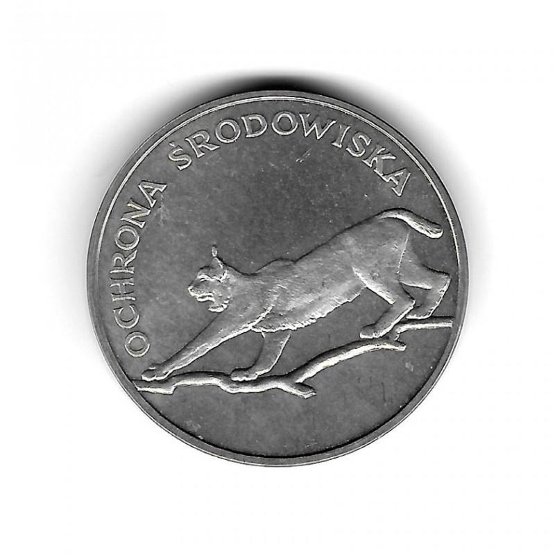 Münze Polen Jahr 1979 100 Złote Luchs Silber Proof PP