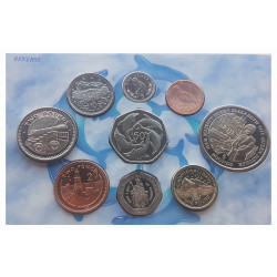 Münzen Pack Gibraltar Year 1995 Unzirkuliert UNC PP