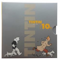 Moneda de Bélgica Año 2004 10 Euros Plata Tin Tin Herge Sin Circular