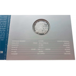 Münze Belgien Jahr 2004 Silber Tin Tin Herbe Unzirkuliert