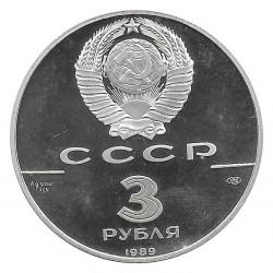 Münze Russland 1989 3 Rubel 500 Jahre Russische Währung Silber Proof PP