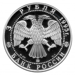 Coin Russia 1995 3 Rubles 1000 Years Belgorod Silver Proof PP