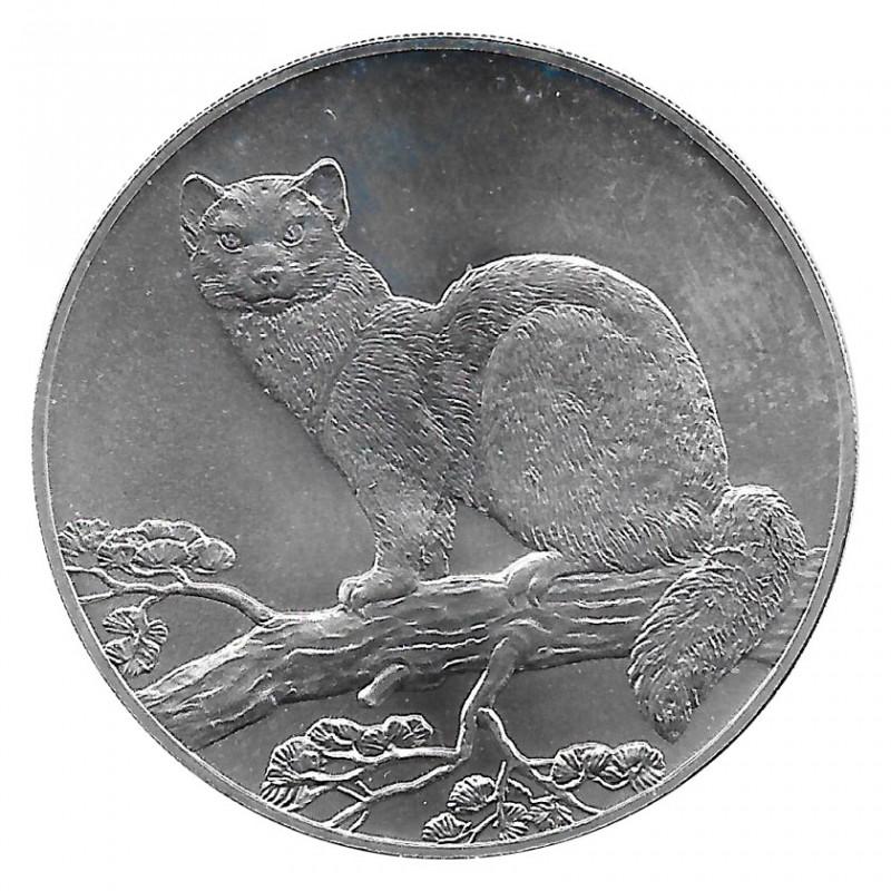 Moneda de Rusia 1995 3 Rublos Animal Marta Plata Proof PP