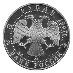 Coin Russia 1997 3 Rubles Contract with Willow Country Silver Proof PP