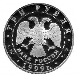 Münze Russland 1999 3 Rubel 2. Tibetexpedition Silber Proof PP
