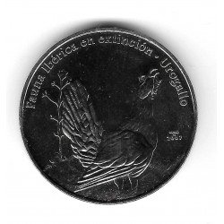 Münze Kuba 1 Peso Jahr 2007 Urogallo (Grouse)